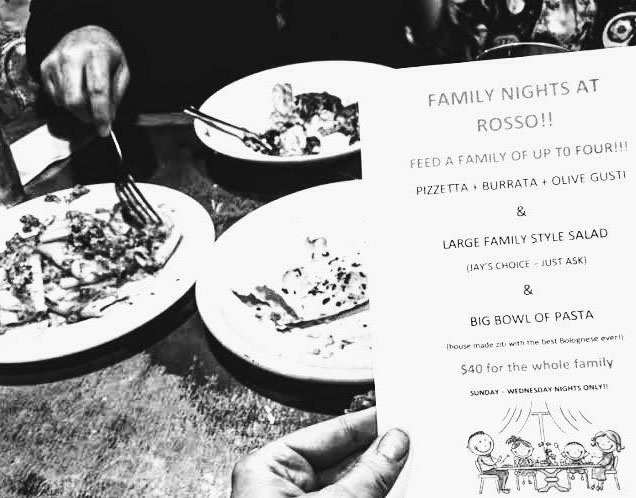 Family Night at Rosso Pizzeria in Petaluma