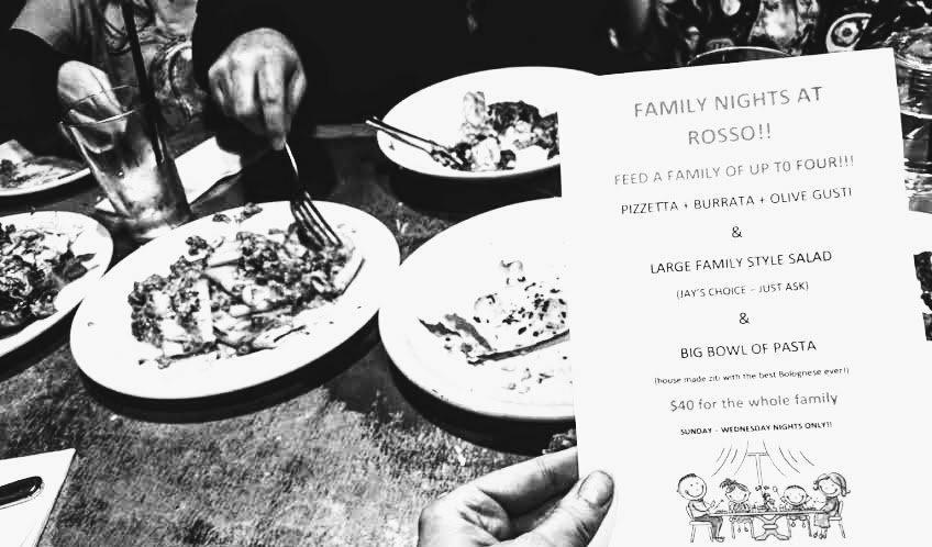 Family Nights at Rosso in Petaluma